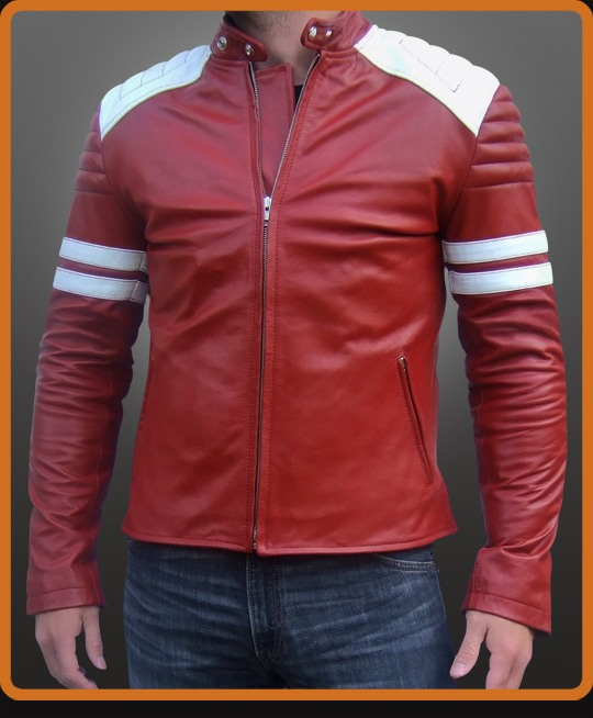 replica of the leather jacket worn by Brad Pitt in Fight Club