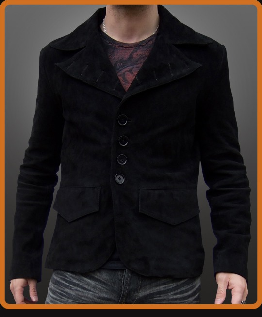Ghost Rider inspired leather jacket