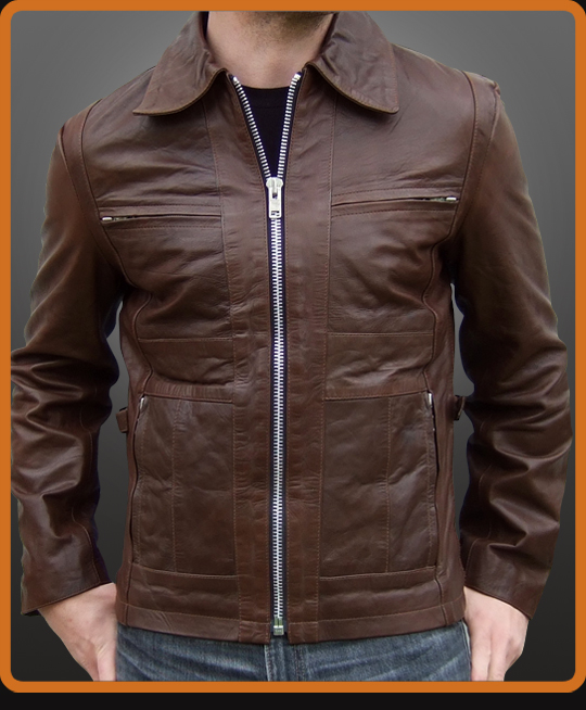 Slide Mens Leather Jacket