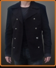 Double breasted jacket available with your choice of buttons