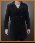 Double breasted trenchcoat style cotton jacket