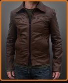 Vintage leather jacket with western seam lines