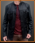 Vintage style leather jacket ala Modfather Paul Weller.